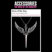 Faith Ann Kiely Aquilum Winged Sword Pendant Accessories Magazine Item of the Day